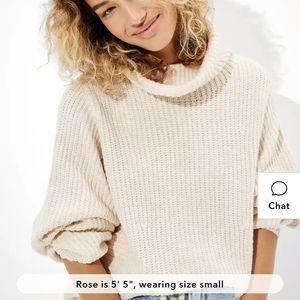 NWT AE Oversized Dreamspun Mock Neck Sweater
